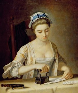 Henry Robert Morland Woman Ironing