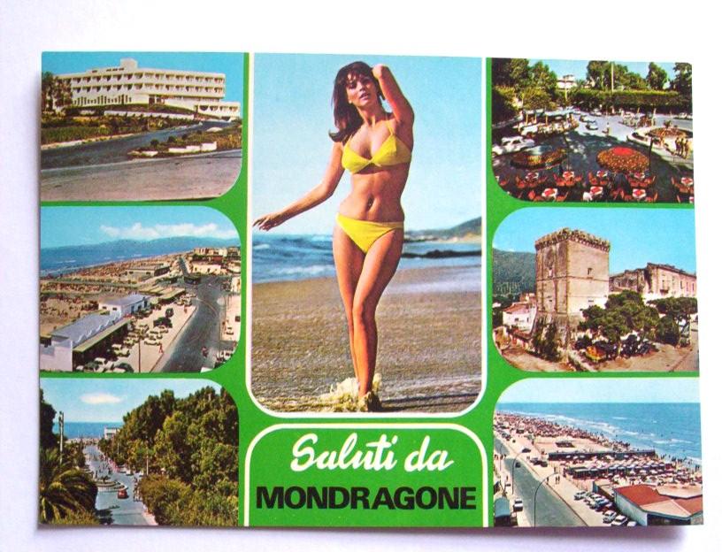 Mondragone, in una cartolina degli anni '80