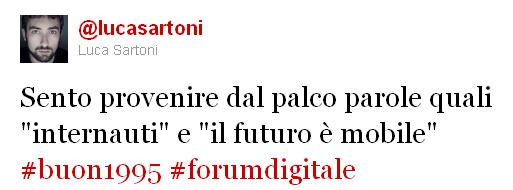 tweet di Luca Sartoni #forumdigitale