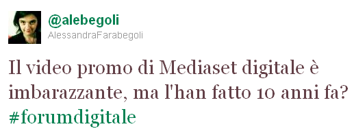 tweet di Alessandra Farabegoli #forumdigitale