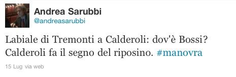 Andrea Sarubbi su Twitter