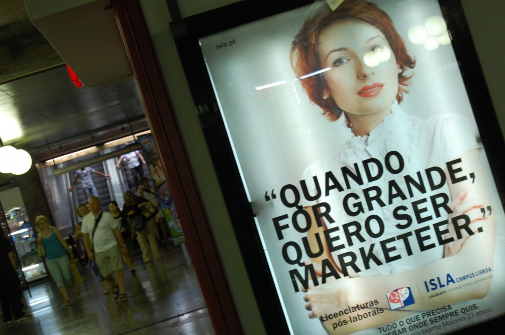 marketer, una pubblicità a Lisbona