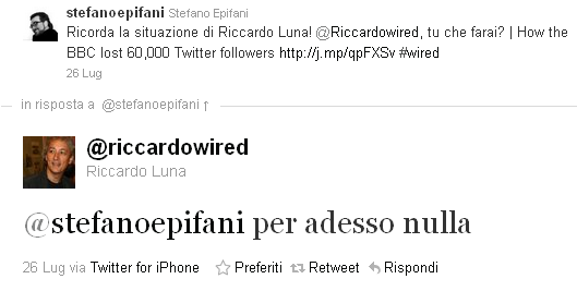 Riccardo Luna su Twitter
