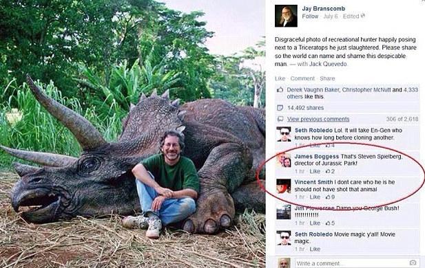 Steven Spielberg e il dinosauro